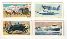(4) 1967 BROOKE BOND CANADA TRANSPORTATION CARD LOT #'S 6-30-38-45