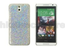 Silver Glitter Sparkling Sequin Case Cover HTC Desire 610 + Screen Protector