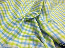 Misthi Fabric Men's Cotton Check Shirt Fabric Green 2.40 Mtr Wholesale