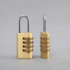 4 Digits Number Padlock Password Code Brass Combination Lock Password Lock