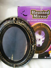 halloween haunted skeleton skull motion activated talking flashing mirror