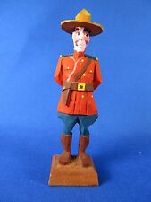 Vintage Wood Carving Canadian Mountie by Hannah Canada