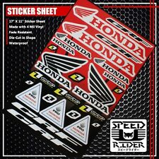MICRO SPONSOR STICKER DECAL HONDA CRF ONE INDUSTRIES PRO OIL AND CHEMICALS LOGO