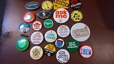 SET OF 23 PIN BACK BUTTONS various shapes sizes
