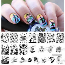 BORN PRETTY Nail Art Stamping Template Image Plate Summer Beach Sea BP-L017