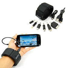 Wrist Band Gadget Battery Charger Power Bank For iPhone Mobile Phone GPS PSP MP3