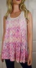 NWT AKEMI & KIN ANTHROPOLOGIE Caicos Printed LinenTank Top Small & Large Pink