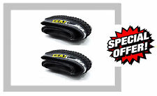 "2 x Mountain Bike Tyres Folding Kevlar Bead Geax Aka 26 x 2.2 black 26"" Pair MTB"
