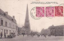 VERNANTES place de la mairie vers VERNOIL-LE-FOURRIER voiture timbrée 1939