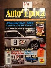 AUTO D'EPOCA Giugno 2003 - Porsche 911, Alfa Romeo Giulietta Sprint, Fiat 128