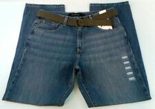 MENS NEW CALVIN KLEIN BELTED JEANS, RELAXED STRAIGHT, MEDIUM WASH 34 x 34 GIFT