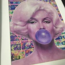 Original CRISP Marilyn Monroe Supreme Pop Art  Gum Warhol Purple