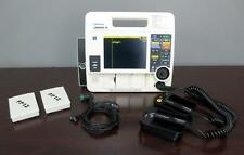 Lifepak 12 Biphasic 3 lead ECG Pacing Analyze Hard Paddles ECG Cable 2 Batteries