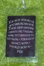 HANDMADE LUGGAGE TAG HAUNTED MANSION GHOSTS DISNEY MORTAL HAUNTS HITCHHIKING