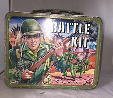Vintage 1965 King Seeley Battle Kit Metal Lunch Box