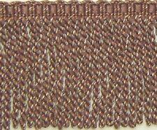 "5"" Bullion fringe Dark Brown Gold Matched Braid Key Tassel Gimp Brush Fringe"