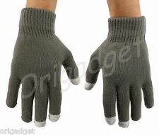 GUANTI TOUCH SCREEN SMARTPHONE IPHONE IPAD IPOD TABLET CONDUTTIVI GLOVES grigiSM