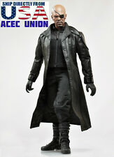 1/6 Avengers Nick Fury Leather Coat Clothing Set For HotToys TTM21 U.S.A. SELLER