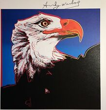 ANDY WARHOL HAND SIGNED * ENDANGERED SPECIES: BALD EAGLE *  PRINT  W/ C.O.A
