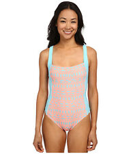 TYR MILOS AURORA ONE PIECE SWIMSUIT V BACK PINK, BLUE SMALL NEW $55