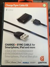 Griffin GC17117 Charge/Sync Cable Kit for iPhone, iPod, and iPad and Smartphone
