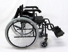 "New Karman Compact 18"" Wheelchair Folding Backrest Swing-Away Footrest Black"