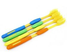 4Pcs Good Double Ultra Soft Nano Bamboo Charcoal Toothbrush Brush Oral Care E2U