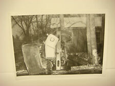 Vintage 1964 Car Wreck Photo NH Accident Scene Large Truck Rollover SPP110
