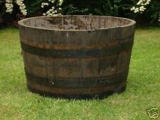 Oak Half Solid wine Whisky barrel planters Garden Patio Lawn Pond Tub Flower Pot