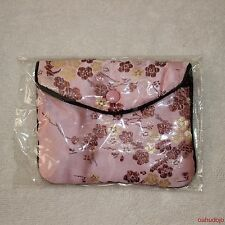 CHINESE EMBROIDERY Silk Satin Coin Pouch Purse Jewelry Snap Closure PINK
