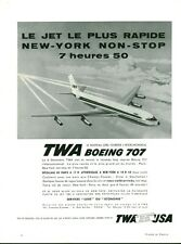 "Publicité Ancienne "" Avion Boeing 707 TWA Long Courrier 1959 "" ( P 33)"