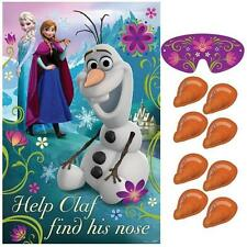 Disney Frozen Party Game - Help Olaf find his nose -  For 2 - 8 Players