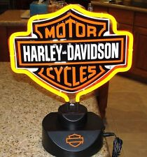 "HARLEY DAVIDSON MOTORCYCLE BAR SHIELD LOGO NEON TABLE or Wall LIGHT 12"" LAMP"