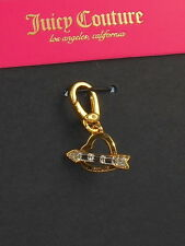 Juicy Couture Goldtone Crystal Heart & Arrow Necklace Bracelet Charm WJW771 $32