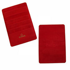 Omega Watch Suede Warranty Card Holder Wallet