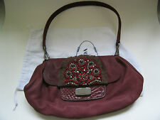 BEAUTIFUL   PRADA AUTHENTIC SUEDE WITH SWAROSKY STONES HANDBAG