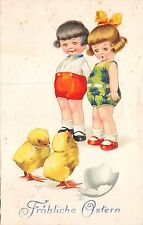 B95173 chick ostern easter children egg   germany