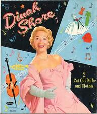VINTAGE UNCUT 1958 DINAH SHORE PAPER DOLLS ~HD LASER REPRODUCTION~LO PR~HI QUA