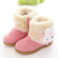 Winter Child Kids Baby Girls Warm Leather Snow Boots Fur Shoes Sneakers 1-6Y Lot