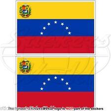 """VENEZUELA Former State Flag (7 star) Venezuelan 75mm (3"""") Stickers, Decals x2"""