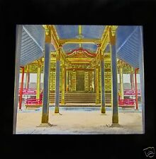 COLOUR MAGIC LANTERN SLIDE SHINTO TEMPLE INTERIOR C1889 OLD JAPAN JAPANESE