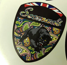 Scomadi Logo Badge Printed Decal Sticker PRETTY GREEN PAISLEY FP TL 50 125 200
