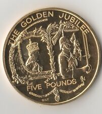 2002 The Golden Jubilee Elizabeth II Bailiwick Of Guernsey 5 Pounds Coin (E)