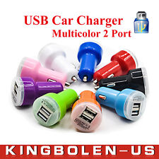 5V 2A Teat Dual Port USB Car Charger for iPhone/4s/5s/iPod/samsung galaxy/ipad