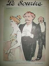 LE SOURIRE N° 14 JOURNAL HUMORISTIQUE DESSINS HERMANN PAUL GRÜN HUARD 1900