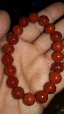Carnelian Stone Bracelet 10mm ♥Regenerates and Gives More♥ vitality♥Joy♥
