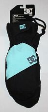 DC LEAR Women's Poly Insulated Mitt Black/Blue Snow Mittens Gloves Sz L/XL **