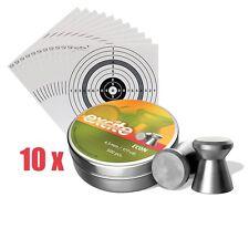 H&N ECON EXCITE Diabolos 4,5 mm Flachkopf 0,48g + 100 Zielscheiben, Plinking