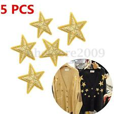 5pcs DIY Fabric Sticker Iron Embroidery Badge Patch Clothes Ornament Applique