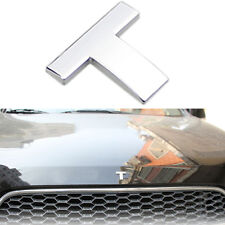 Silver ABS Chromed DIY Letter T Style Automobile decorative trim 2.5cm x 2.2cm